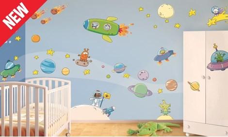 Adesivi murali pianeti stickers e decorazioni leostickers - Decorazioni murali camerette ...